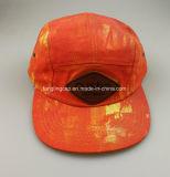 男女兼用のタイの染料の綿のキャンバスの革パッチのキャンピングカーの帽子