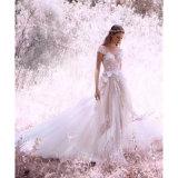 Do jardim Sleeveless da praia do vestido nupcial do laço vestido de casamento de viagem H201725