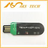 La température à utiliser une seule fois sensible d'enregistreur de données de l'affichage à cristaux liquides USB