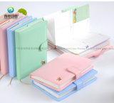 Agenda de couro colorida do caderno do plutônio A6 A5 da forma para a menina