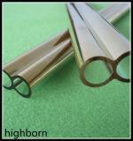 工場価格の金の上塗を施してある単一の水晶ガラス管