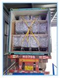 プラットホーム様式の4つのPUの車輪の金属の貨物トラック