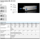Jogo pneumático do cilindro de DNC ISO6431/15552