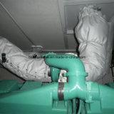 Silenciador de aluminio a prueba de calor de fibra de vidrio manta aislante térmico extraíble