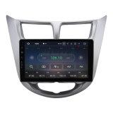 """인조 인간 7.1.2는 충분히 9 """" Hyundai Solaris Verna를 위한 차 DVD GPS 항법 라디오 WiFi 3G를, 만진다"""