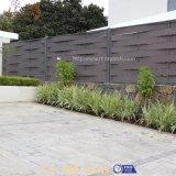 Los paneles fáciles de aluminio al aire libre de la cerca de la armadura WPC del jardín de la instalación para la venta