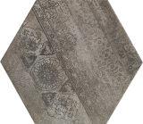 壁または床のための薄い灰色の錆ついた260*300 Hegaxonの花のセラミックタイル