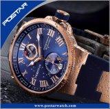 Resistente à água em aço inoxidável Empresário Automatical Relógios mecânicos