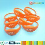 Bracelet classique programmable d'IDENTIFICATION RF de silicones du contrôle d'accès MIFARE EV1 1K