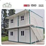 Casa prefabricada del envase del emparedado de dos suelos para los hogares vivos