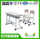 Muebles en el Aula doble mesa y sillas (SF-02D)