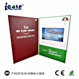 Tarjeta de felicitación video del LCD para hacer publicidad, folleto de la tarjeta de Vidoe