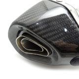 Fcmun186オートバイの排気機構はカーボン端が付いている六角形のマフラーを分ける