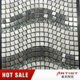 Стекло и нержавеющая сталь смешивания мозаики формы волны каменные