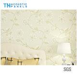 Ecoの壁パネルのための友好的なポリエステル線維の内部の装飾的な壁紙の衣類の音の補強のパネル