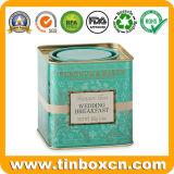 茶のための正方形の金属の錫の茶ボックスは茶筒できる