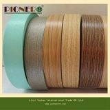 Cinta de PVC de madera del grano para la venda del borde
