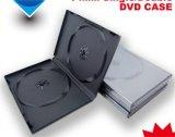Tampa de DVD em branco caso DVD Caixa de DVD 14mm Rectange Preto duplo