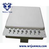 Teléfono celular ajustable bloqueador WiFi Jammer VHF UHF (con Bulit Antena direccional)