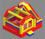 Castello rimbalzante gonfiabile rosso & giallo con la trasparenza Chb715