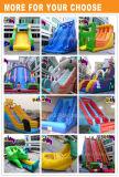 CE Commercial Diapositive gonflable géant gonflable bleu glissoire d'eau et de glissement de terrain de jeux