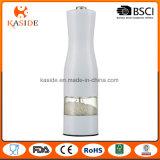 Molino eléctrico de encargo de la sal y de pimienta de la botella de vino del color metálico
