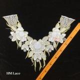 44*39см Vintage кружевной воротник Net Whitework богато украшен вышивкой в викторианском стиле горловины кольца Hme911
