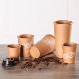 최신 커피 잔은 처분할 수 있는 Kraft 갈색 포장지 컵을 나른다