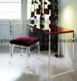 製造業者は卸し売りする椅子(M-X3564)のアクリルの世帯のシートの方法有機性ガラスのシートのアクリルの高級な背部を