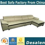 L sofa de cuir de meubles de bureau de prix de gros de forme (A80)