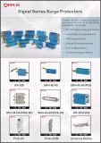 16 ligne protecteur de saut de pression de montage sur bâti de protection d'Ethernet de CAT6