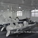 Barca di lusso approvata della nervatura del Ce gonfiabile rigido delle barche di Liya 17feet