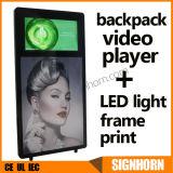Nuovo tabellone per le affissioni ambulante umano dello zaino di disegno LED