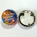 LED-blinkendes Licht-Flaschenkapsel-Abzeichen mit Firmenzeichen gedruckt (3569)