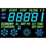 緑LEDが付いているカスタマイズされた否定的なVATN LCDの表示