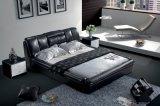 Modernes Bett-Leder-Bett (SBT-5846)
