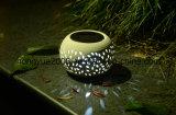 Vente chaude Lampe Solaire de Jardin en céramique de plein air Table de jardin lumière solaire