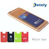 Chemise par la carte de crédit de support de poche d'identification de collant adhésif pour le portable