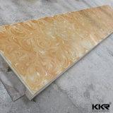 Superfície contínua artificial translúcida material da decoração
