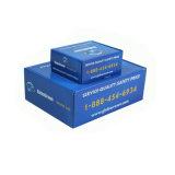 Коробка упаковки голубой бумаги нестандартной конструкции