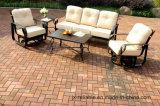 アルミニウムSwivel&Glideの庭の雑談のグループの一定の家具
