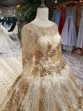 Ouro de Manga Longa Aoliweiya Sparky vestido de casamento