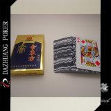 Goldener und orientalischer spielender Karten-Dazhuang Schürhaken