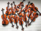 악기 공장에서 바이올린 케이스에 있는 Teka Chinrest 바이올린
