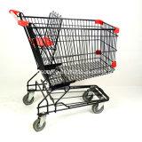 150L estilo asiático supermercado 4 Rodas Carrinho de envio