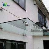 Weihua claro vidrio templado de seguridad para la construcción de vidrio cubierta