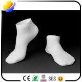 A cor contínua do algodão golpeia peúgas do tornozelo dos esportes