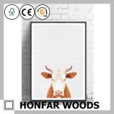 Kind-Raum-Wand-Kunst-Kuh-Kunst-Farbanstrich mit hölzernem Rahmen