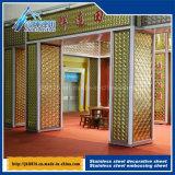 Plaque décorative profondément gravée en relief d'allégement du réseau 3D de plaque en métal de configuration d'acier inoxydable