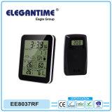 Bildschirmanzeige mit Warnungsnooze-Kalender-Thermometer-Hygrometer-Wetterstation